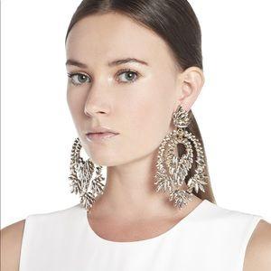 BCBGMAXAZRIA Metallic Stone Statement Earrings